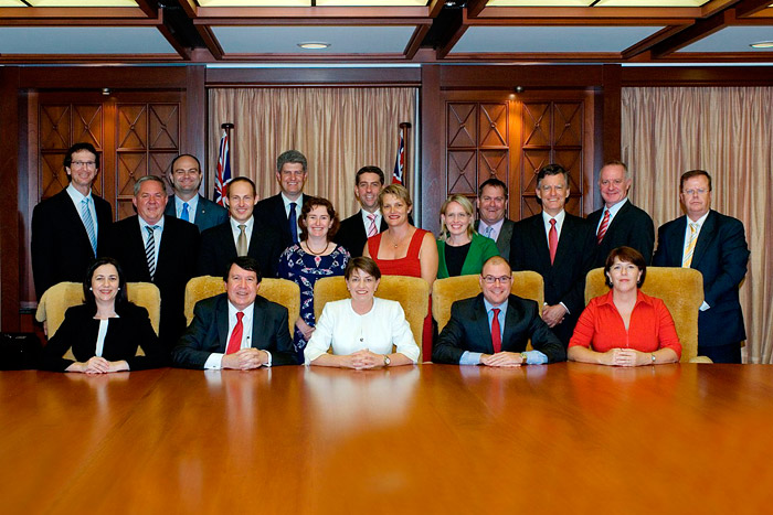 Curtis Pitt was sworn in to the new Bligh Government Cabinet as Minister for Disability Services, Mental Health and Aboriginal and Torres Strait Islander Partnerships on 21 February 2011.